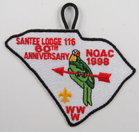 "OA Lodge 116 Santee X4 NOAC98; shape of S.C.; Red ""60th ANN"" [D1706]"