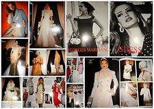 Kelly Le Brock Karen Mulder clippings Vogue Italia 1992 fashion GUESS SARLI ads