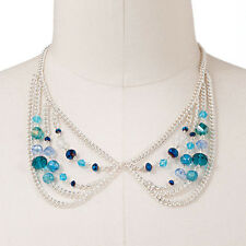 Candie's® Silver Tone Bead Swag Necklace