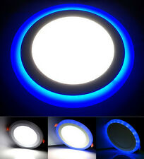 DEL rond encastré plafond 18 W 3 en 1 couleur Cool Bleu Blanc Spotlight
