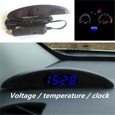 12V LED Digital Thermometer ℃ ℉ Voltmeter Alarm Clock Gauge Car Dash Sets Panels