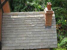 25 METRI INS 1:12th REAL grigio pietra in miniatura Solette del tetto