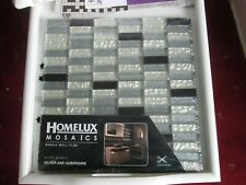 Homelux Mosaics. Mosaic wall tiles. Glass mosaic sliver and Aubergine