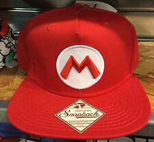 Super Mario MARIO SnapBack Hat. Brand New. One Size Fits All. ORIGINAL SNAPBACK