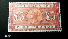 Great Britain 1876 £ 5 orange, Copy
