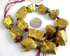 Titanium crystal Agate Druzy Quartz Geode stone Pendant loose bead 40CM B3