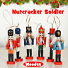 6Pc Wooden Nutcracker Soldier Vintage Handcraft Puppet Doll Christmas