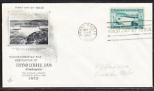 """USA """"Artcraft"""" 1952 Grand Coulee Dam First Day Cover Addressed"""