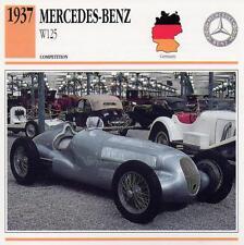 1937 MERCEDES-BENZ W125 Racing Classic Car Photo/Info Maxi Card