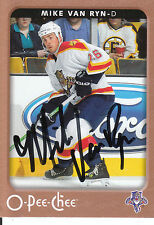 MIKE VAN RYN PANTHERS AUTOGRAPH AUTO 06-07 O-PEE-CHEE OPC #212 *21039