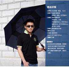 "59"" 150cm  Oversize Umbrella  Windproof Canopy Auto-Open Outdoor Golf Large"