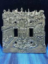 Castle Knight Pewter Light Switch Plate Double Switch Fellowship Foundry US Made