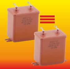 10 uF 400 V STRONG MATCHED RUSSIAN PAPER IN OIL PIO AUDIO CAPACITORS MBGO МБГО-2