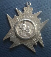 Victorian LARGE EARLY Stg. Silver Rifle Shooting Fob Medal h/m 1891 not engraved