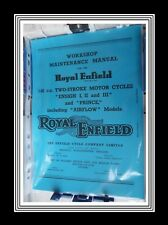 Royal Enfield ENSIGN 1, 2, 3 & PRINCE also AIRFLOW Workshop Maintenance Manual