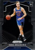 Ignas Brazdeikis RC 2019-20 Panini Prizm Base Rookie Card #284 New York Knicks