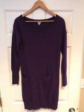 J. Crew Purple Wool Blend Sweater Dress W/ Pockets, Size Small