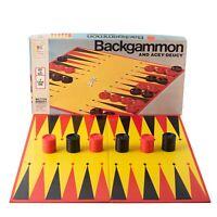 Vintage Milton Bradley Backgammon and Acey-Deucy 4319 Board Game 1973
