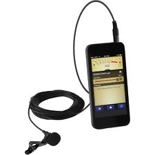 EXTERNAL CLIP ON MICROPHONE for SMARTPHONE ANDROID IPHONE AUDIO/VIDEO CAMERA APP