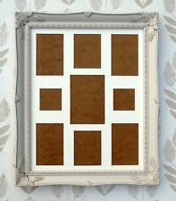 "Vintage Cream 16x20"" Swept Frame with Multi Aperture 9 Hole Mount"