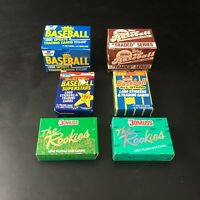 Lot of 6 Complete Baseball Sets   Fleer Donruss Topps   1987 1988 1990 1991  CIB