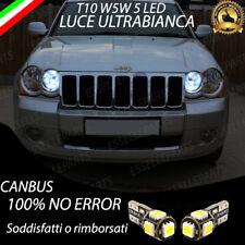 COPPIA LUCI POSIZIONE 5 LED PER JEEP GRAND CHEROKEE 3 T10 W5W CANBUS NO ERRORE