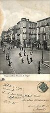 Reggio Calabria, Piazzetta san Filippo, bella animata, viaggiata 1910