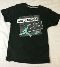Air Jordan Kids Short Sleeve sleeve Green Shirt Size- M (C)