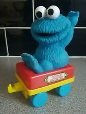 Jim Henson Puppet Cookie Monster on Train Car Toy