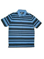 Nike Golf Tour Performance Dri Fit Mens Large Blue Short Sleeve Polo Shirt!