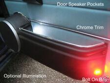 Door Speaker Pockets Classic Mini Cooper Chrome Trim