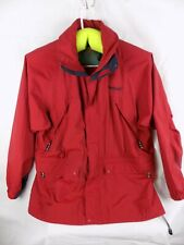 Timberland Authentic Weathergear Full Zip Rain Gear Hooded Coat Red Size XL