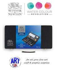 Winsor & Newton Cotman Watercolour Artists Wooden Small Art Box paint tubes Set