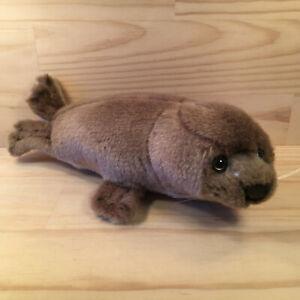 "MONTY THE FUR SEAL ""Brown"" Gorgeous Faux Fur Sea Animal Cuddly Soft Toy Friend"