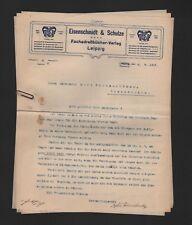 Leipzig, 3 x 1915 carta, hierro Schmidt & Schulze GmbH fachadressbücher-Verlag