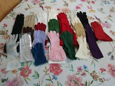 Lot 21 Pairs Vintage Gloves--1940's-60's--Leather--Rayon--Nylon--NOS -Long-Short
