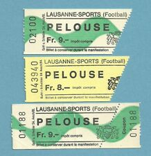 TICKET   LAUSANNE  SPORTS     (3 tickets)   Année 1980
