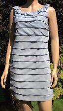 VESTRY Powder Blue Satin Back Front Sleeveless Lined Cocktail Dress Size 12