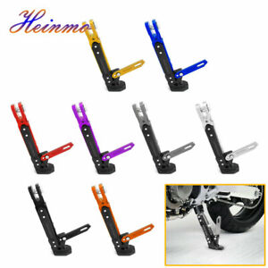CNC Alloy Adjustable Kickstand Foot Side Support Stand for Motorcycle Universal