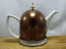 vintage Hall Teapot Forman Family Copper Warmer Cozy insulated cover Ceramic mcm
