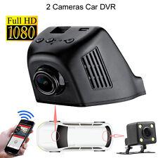 HD 1080P Wifi Hidden Video Car Recorder with Back Camera 170 Degree Dash Cam