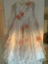 Girls disney belle wedding dress white with flower detail