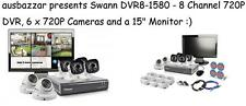 "Swann DVR8-1580 - 8 Channel 720P DVR, 6 x 720P Cameras and a 15"" Monitor"