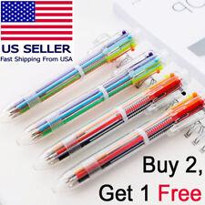 Buy 2 Get 1 free Multi-color 6 in 1 Ballpoint Pens Kids School Office Pen Supply