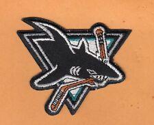 NHL HOCKEY SAN JOSE SHARKS 3 inch LOGO JERSEY PATCH Unsold Stock IRON ON