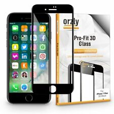 iPhone 7 / iPhone 8 (4.7'') Pro-Fit Glass Screen Protector in Black by Orzly