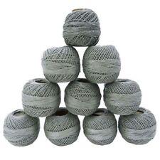 Metallic Cotton Crochet Thread 10 Pcs Mercerized Embroidery Yarn Knitting Craft