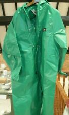 Alpha Solway Chemmaster Green Coverall Boiler Suit with Hood Medium