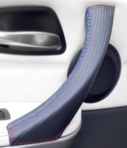 Door Handle Cover Carbon Fiber Leather for BMW 3 E90 E91 E92 E93 M/// Sport LEFT