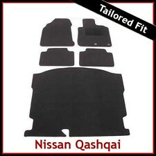 NISSAN QASHQAI Mk1 5-Seater 2007-2014 Tailored Carpet Car & Boot Mats BLACK